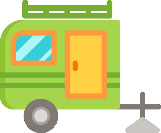 animation af campingvogn